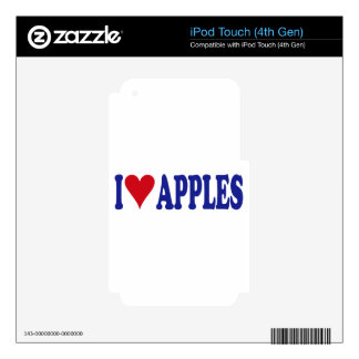 I Love Apples Skins For iPod Touch 4G