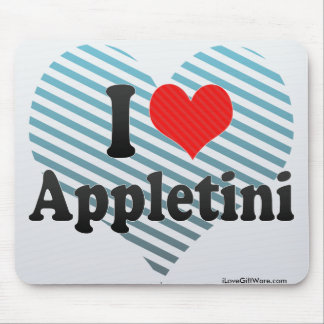 I Love Appletini Mousepad