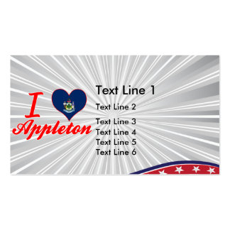 I Love Appleton, Maine Business Cards