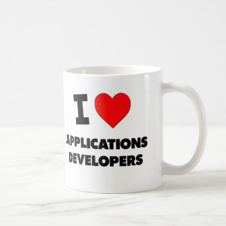 I Love Applications Developers Coffee Mugs