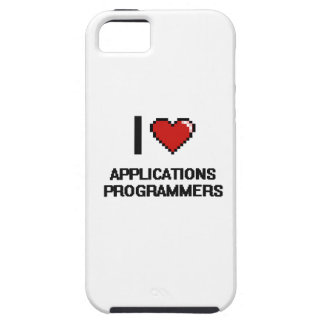 I love Applications Programmers iPhone 5 Covers