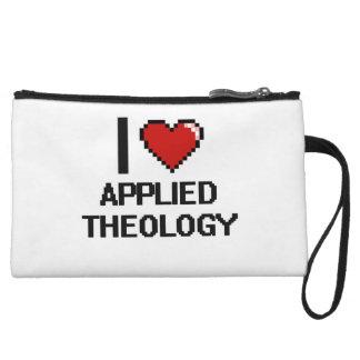 I Love Applied Theology Digital Design Wristlet Purse