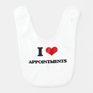 I Love Appointments Bibs