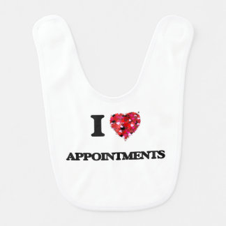 I Love Appointments Baby Bibs