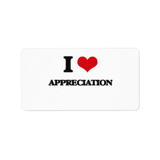 I Love Appreciation Custom Address Label