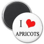 I Love Apricots Fridge Magnets