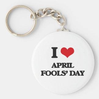 I Love April Fools' Day Keychains