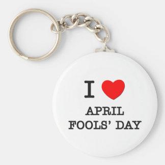 I Love April Fools Day Keychain