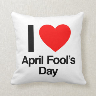 i love april fool's day throw pillow
