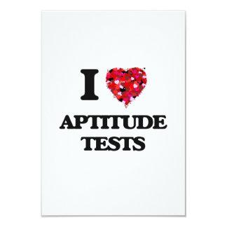 I Love Aptitude Tests 3.5x5 Paper Invitation Card