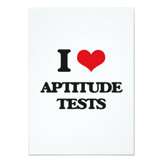 I Love Aptitude Tests 5x7 Paper Invitation Card