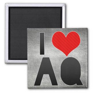 I Love AQ 2 Inch Square Magnet