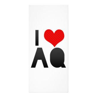 I Love AQ Custom Rack Cards