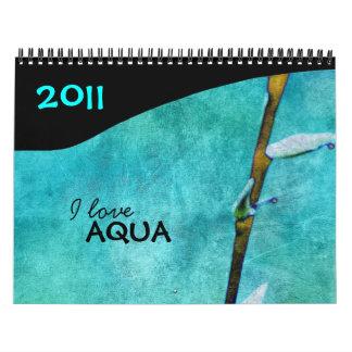 I Love Aqua 2011 calendar