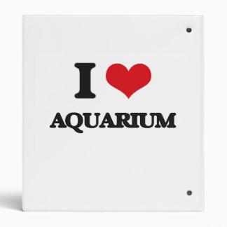 I Love Aquarium 3 Ring Binder