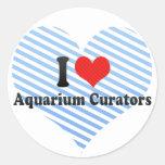 I Love Aquarium Curators Sticker