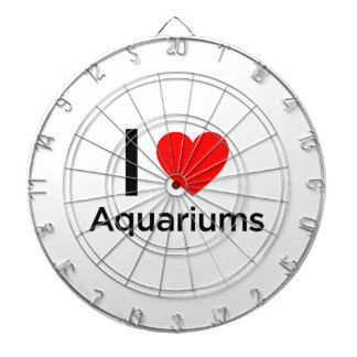 I Love Aquariums Dartboard