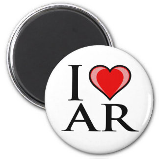 I Love AR - Arkansas 2 Inch Round Magnet