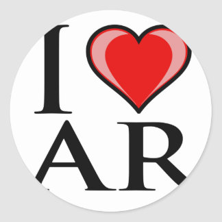 I Love AR - Arkansas Classic Round Sticker