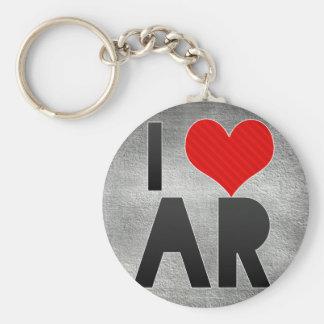 I Love AR Basic Round Button Keychain