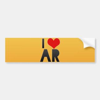 I Love AR Car Bumper Sticker