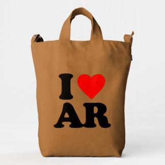 I LOVE AR DUCK CANVAS BAG