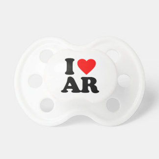 I LOVE AR BABY PACIFIERS