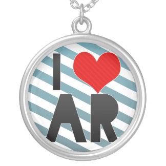 I Love AR Round Pendant Necklace
