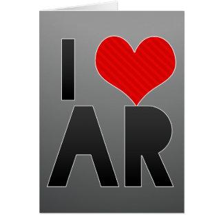 I Love AR Stationery Note Card