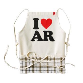 I LOVE AR ZAZZLE HEART APRON