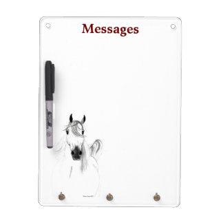 I Love Arabian Horses Dry Erase Board