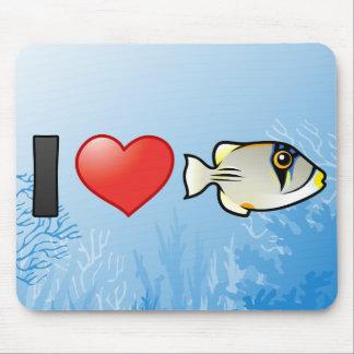 I Love Arabian Picassofish Mouse Pad