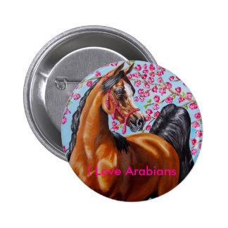 I Love Arabians Pinback Buttons