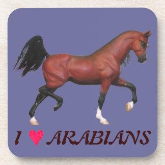 I Love Arabians Equine Art Pony Drink Coaster