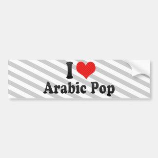 I Love Arabic Pop Car Bumper Sticker