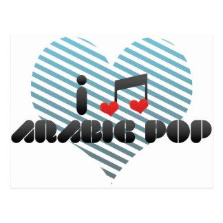 I Love Arabic Pop Postcard