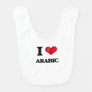 I Love Arabic Baby Bibs
