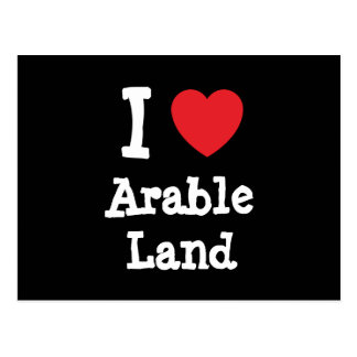 I love Arable Land heart custom personalized Postcard