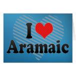 I Love Aramaic Greeting Card