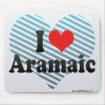 I Love Aramaic Mouse Pad