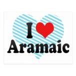 I Love Aramaic Postcard