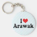 I Love Arawak Key Chain