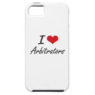 I Love Arbitrators Artistic Design iPhone 5 Covers