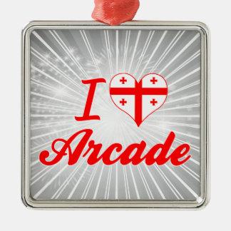 I Love Arcade, Georgia Christmas Ornament