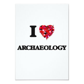 I Love Archaeology 3.5x5 Paper Invitation Card