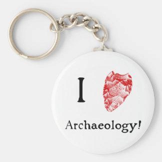 I Love Archaeology Key Chain