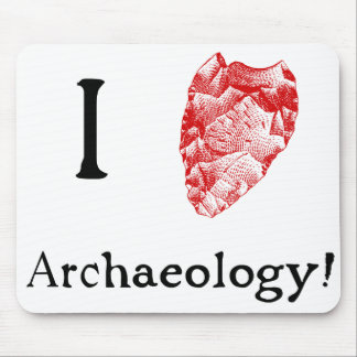 I Love Archaeology Mouse Mat Mouse Pad