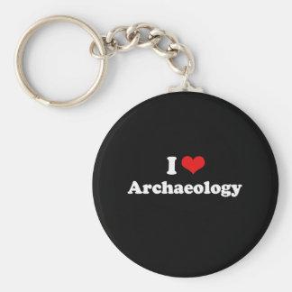 I Love Archaeology Tshirt Keychain