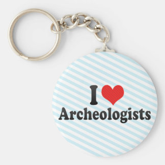 I Love Archeologists Basic Round Button Keychain