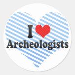 I Love Archeologists Sticker